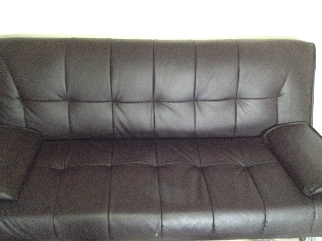 free sofa bed newbury saarinen womb brown futon pic 2 sitting position