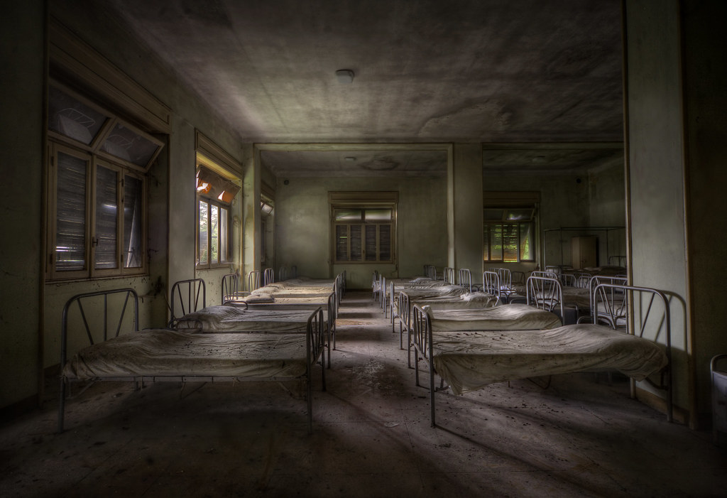 dormitory decay  Abandoned building Rx enjoy your stay