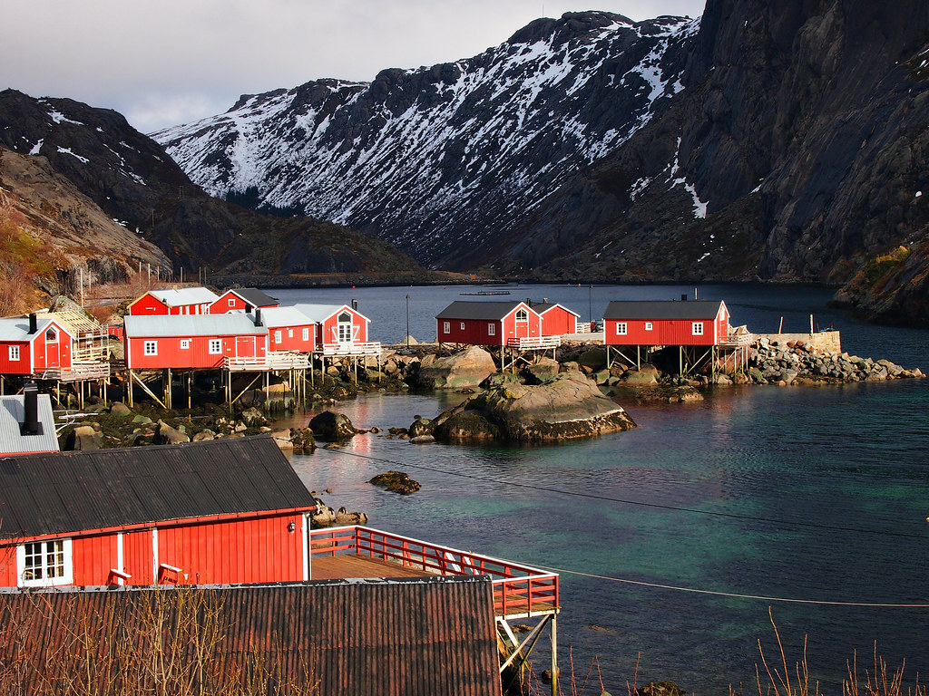 NusfjordFishing VillageLofoten IslandsNorway  Nusfjord