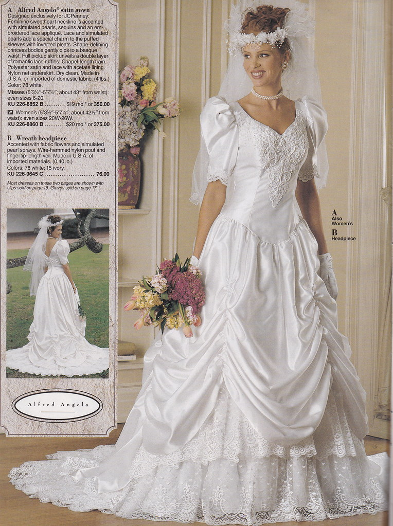 From a mid 90s JC Penney Bridal catalog  A very pretty gow  Flickr