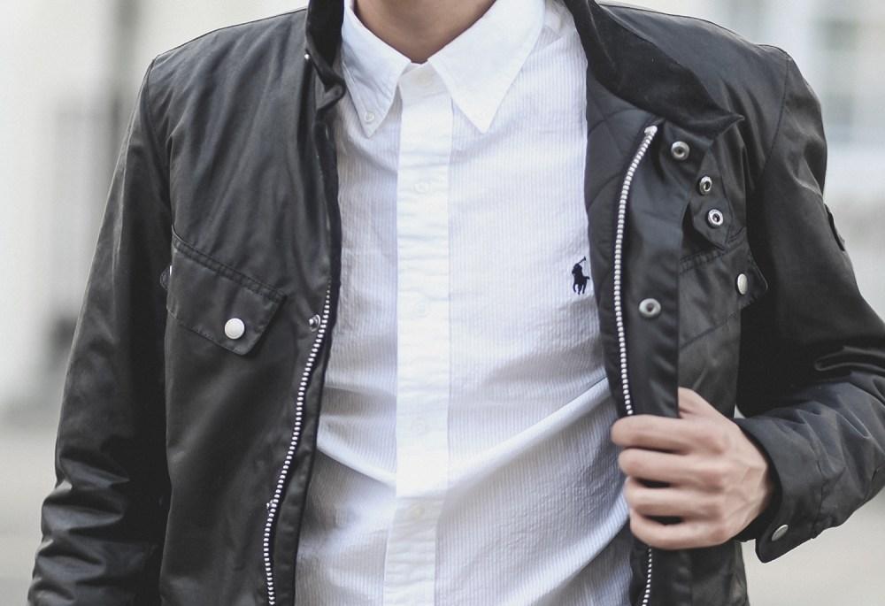 ralph lauren logo-embroidered slim-fit cotton shirt