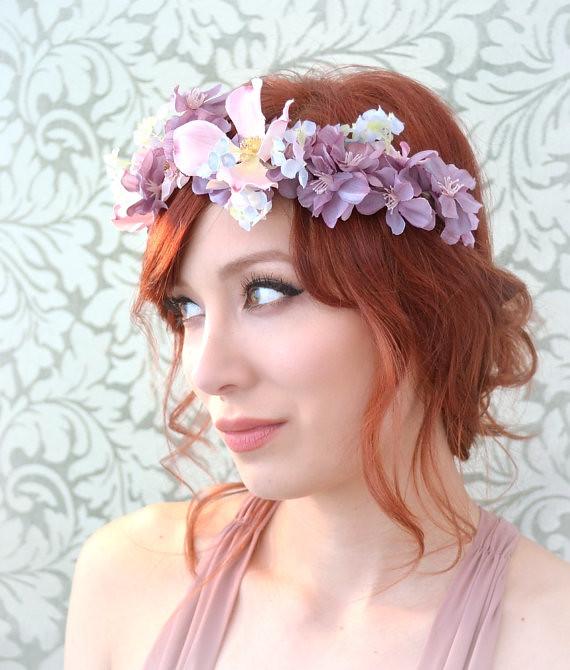 Bridal Hair Accessories Flower Crown Woodland Wedding He