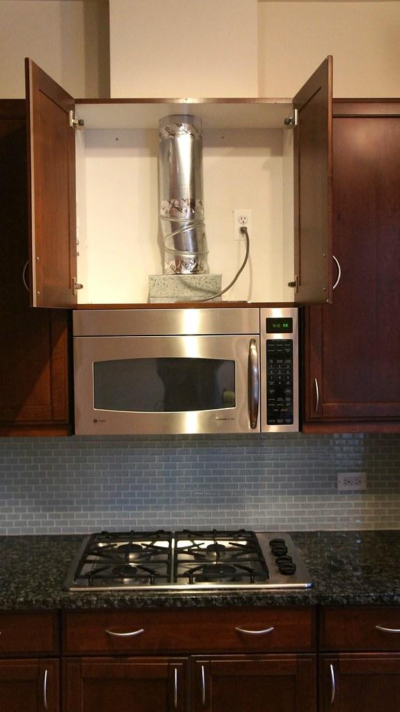 GE Profile Microwave Hood Combo Vent  Boren Novakovic