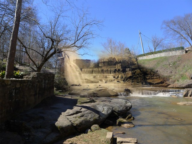 Lower Falls with Chicora College View