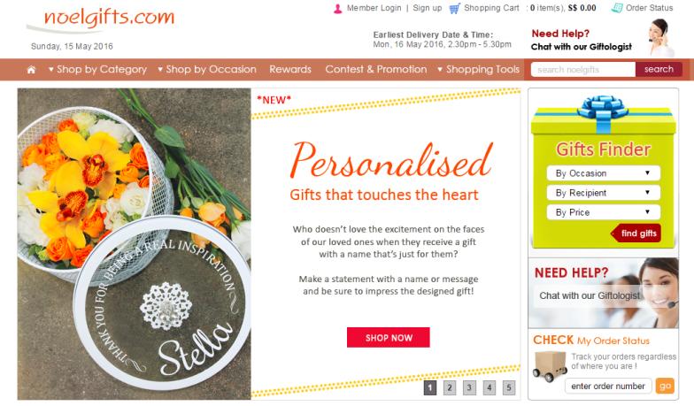 Noel Gifts Website