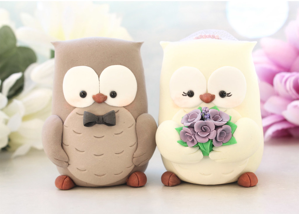 Owls Wedding Cake Toppers Unique And Cute Owls Wedding
