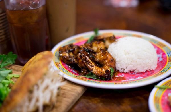 búnker Tom Thit Ram caramelized wild shrimp Tom