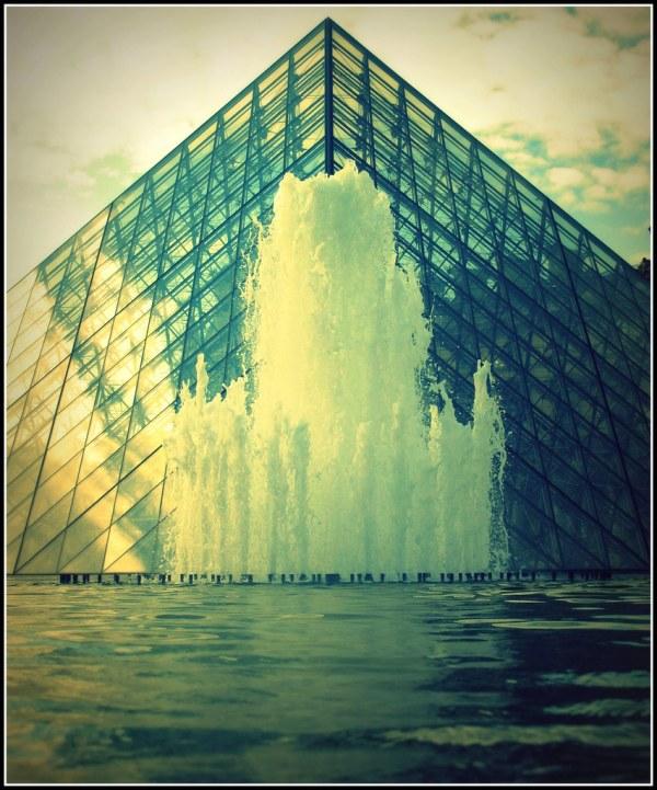 Fountain Louvre Paris France