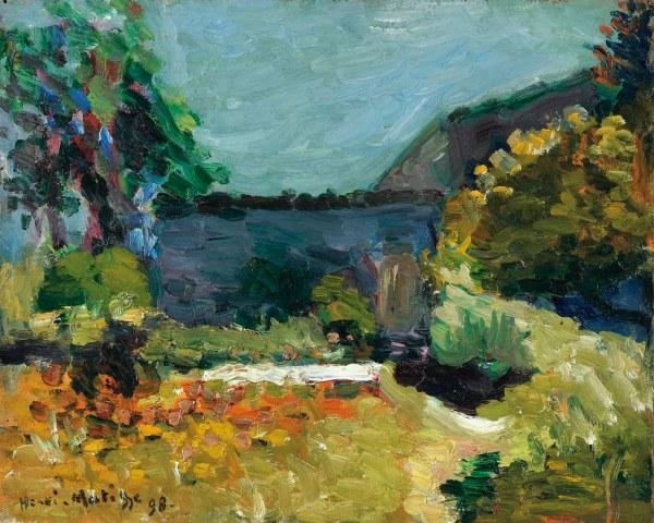 Henri Matisse - Landscape Paysage 1898 Marks