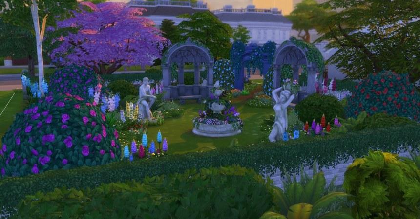 Parc Les Sims 4 Jardin romantique