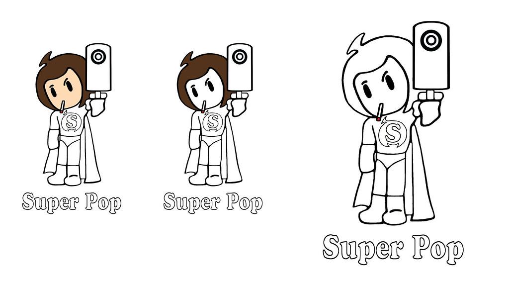 B-Pop Super Pee Wee Kid Anime SD Japan Cartoon Comic Color