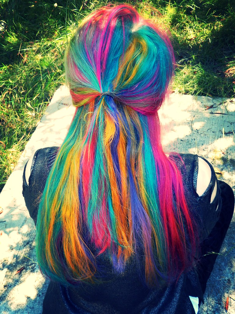 Rainbow Hair Photo Taken At Caspar Cemetary CasparGirl