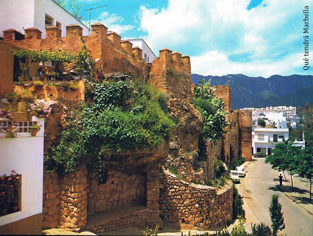 Marbella en Color  Murallas de levante del castillo aos