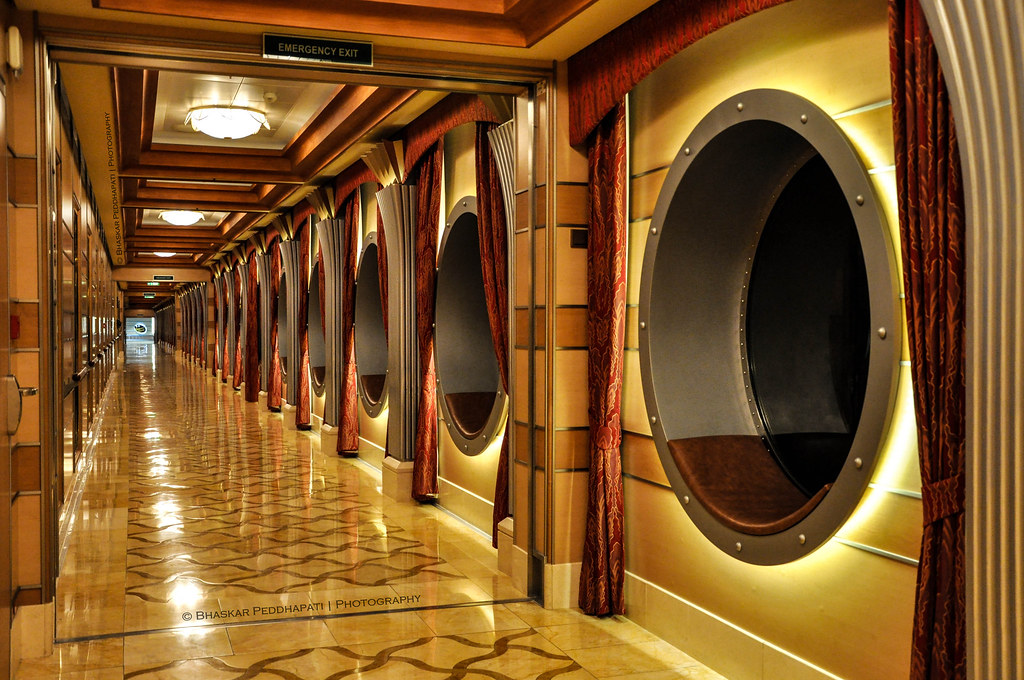 2014 22100 Port hole hallway on Disney Dream  This is