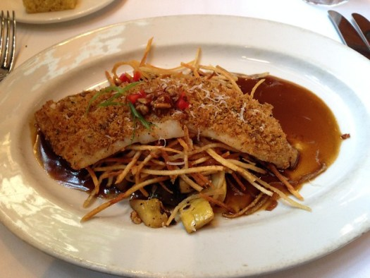 Andoille-Crusted Drum, Emeril's, New Orleans