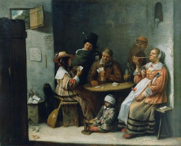 Josse Van Craesbeeck - Card Players .1645 In