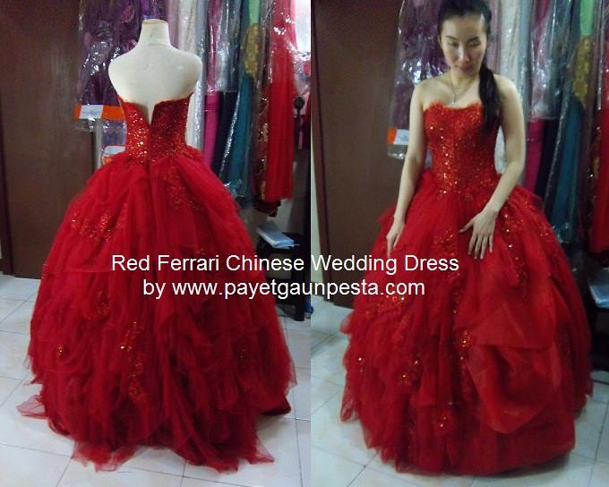 Red Ferrari Chinese Wedding Dress by payetgaunpesta  Flickr