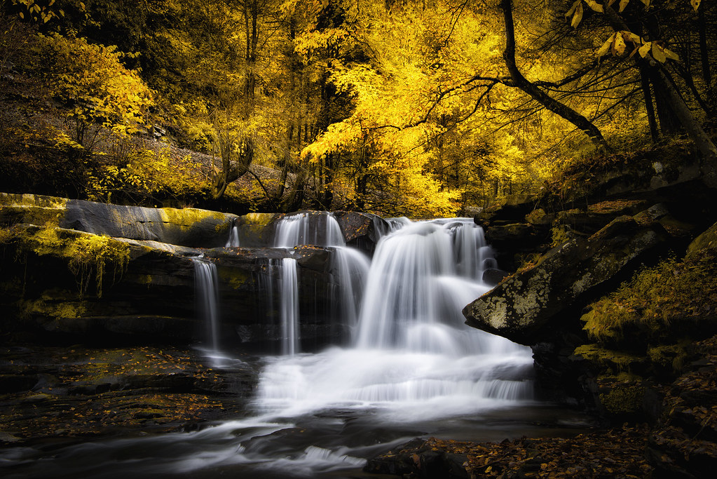 Free Computer Wallpaper Fall Leaves Lower Dunloup Creek Falls In October This Shot Was Taken