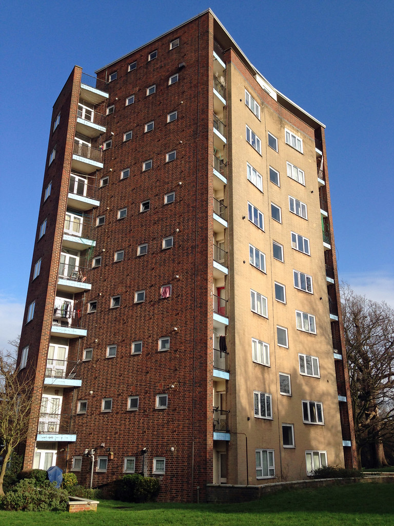 The Lawn Harlow  Britains first residential tower block