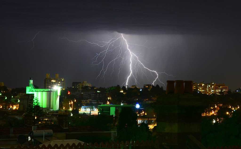 Lightning Storm Over Melbourne Picture Taken At Richmond
