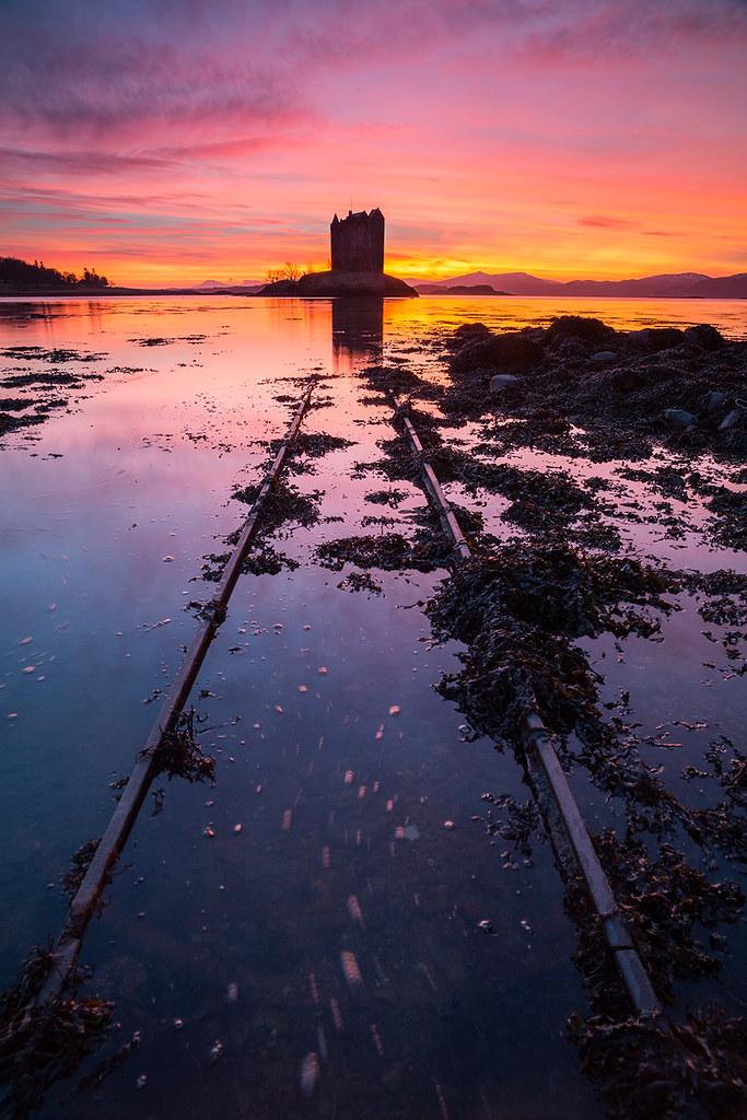 Castle Stalker  Saturation Zero  The best sunset I have
