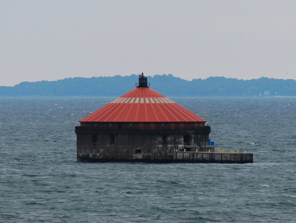 Buffalo Water Intake Crib  This is where the city get