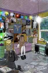 grunge room band 90s bedroom 90 poster painting aesthetic posters rooms decor hippie rock wall soft flickr teen drawing bedrooms