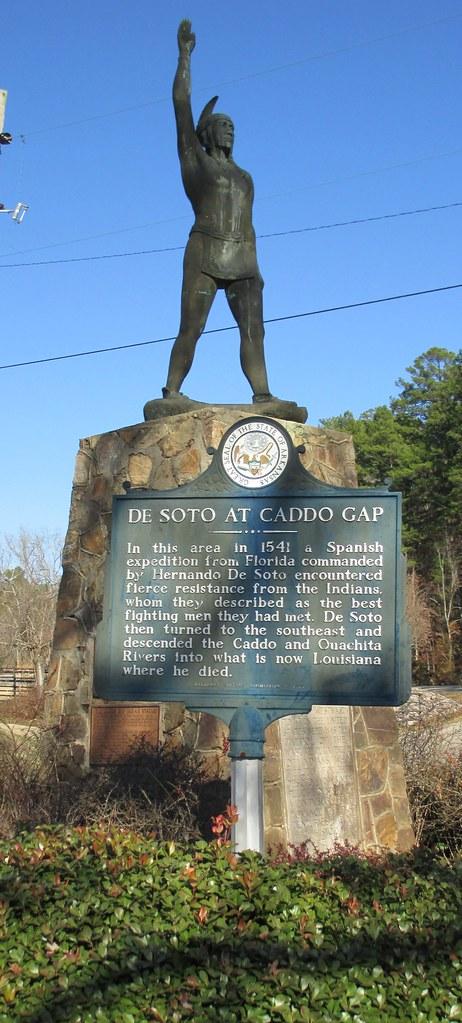 Caddo Gap Indian Statue Caddo Gap Arkansas  Caddo Gap