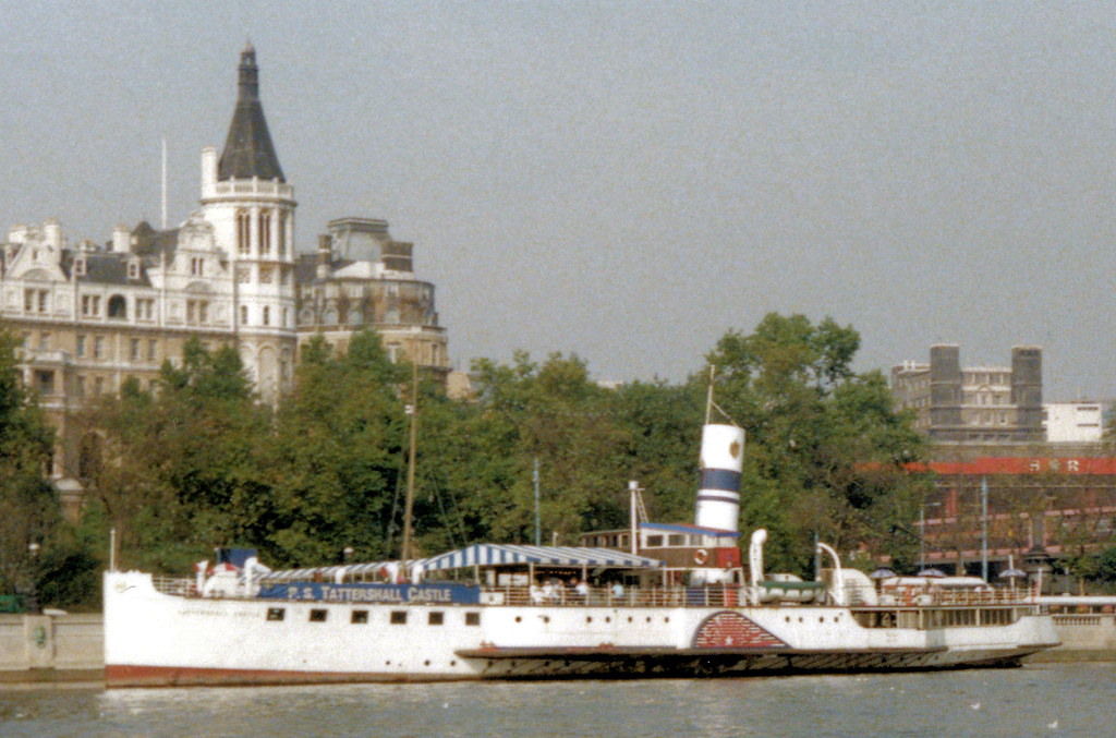 PS Tattershall Castle on the River Thames London c1985