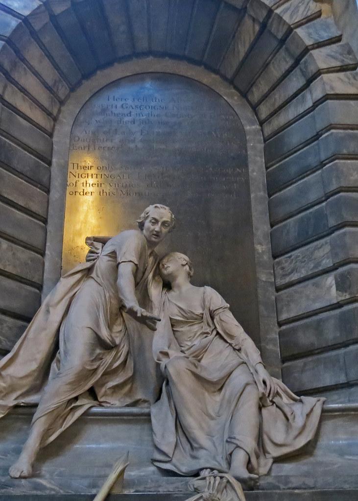 Westminster Abbey  Statue of Lady Elizabeth Nightingale