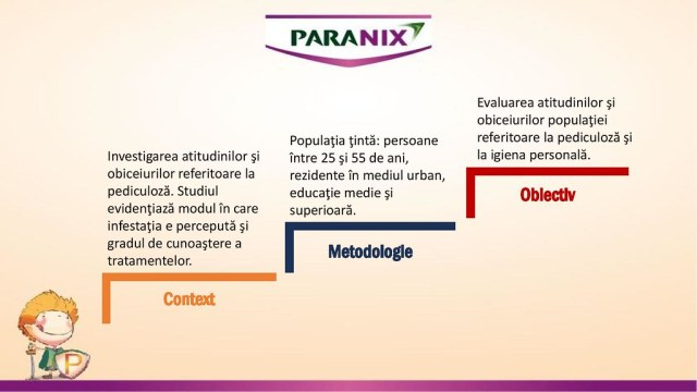 studiu păduchi paranix
