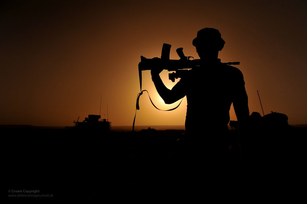 White Wallpaper With Quotes Soldier Silhouetted In Afghanistan A Soldier With 1