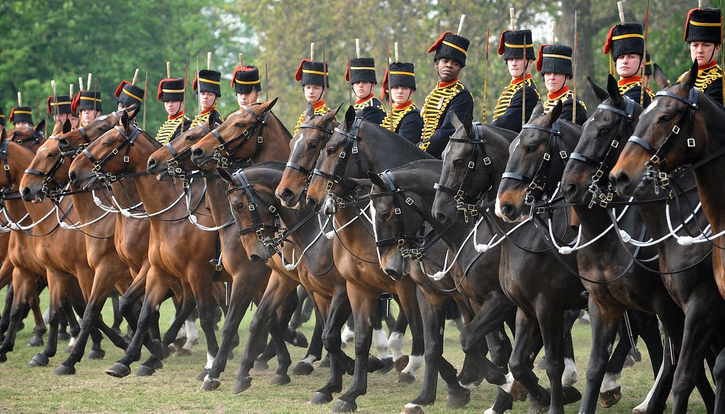 Soldiers And Horses Of The Kings Troop Royal Horse Artille