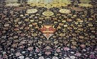 Ardabil Carpet, detail with lamp close | Medallion Carpet ...