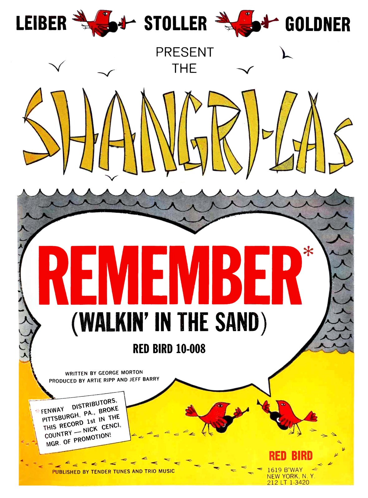 The Shangri-Las - Remember (Walkin' in the Sand) - Red Bird Records - 1964