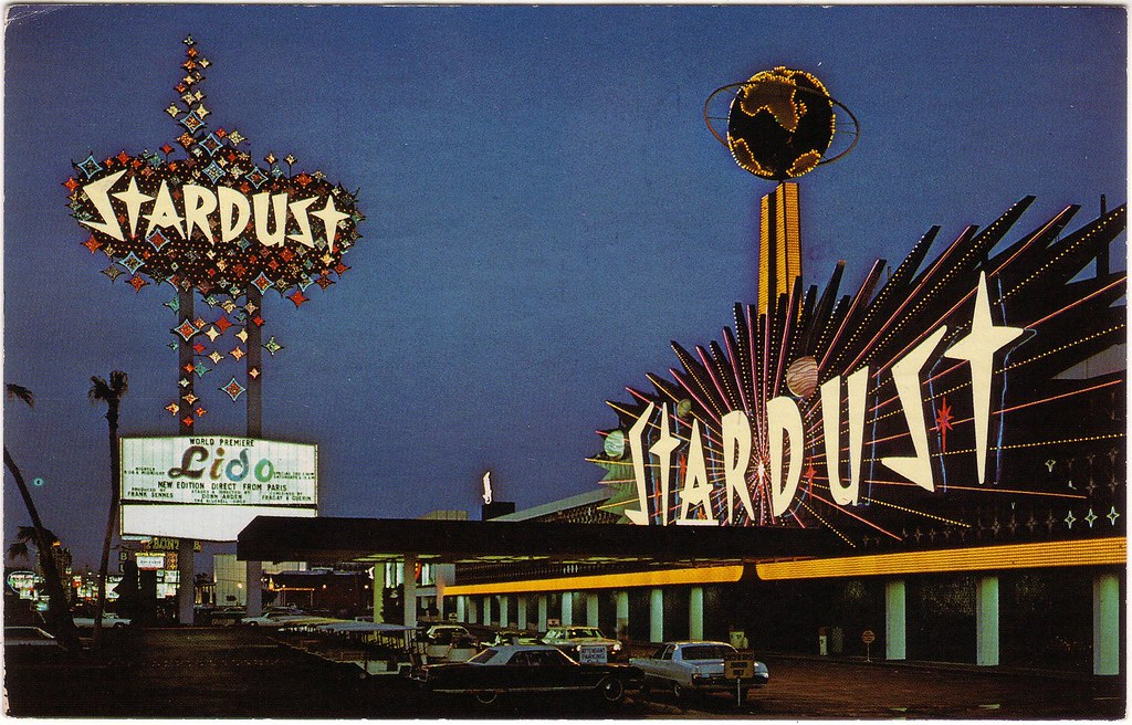 RETRO LAS VEGAS 1960s Stardust Hotel Postcard  The iconic   Flickr