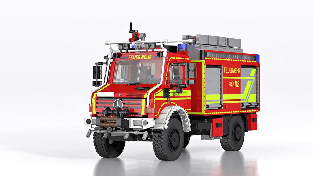 Unimog U 5000 Wildland Fire Truck Tanklschfahrzeug Wald