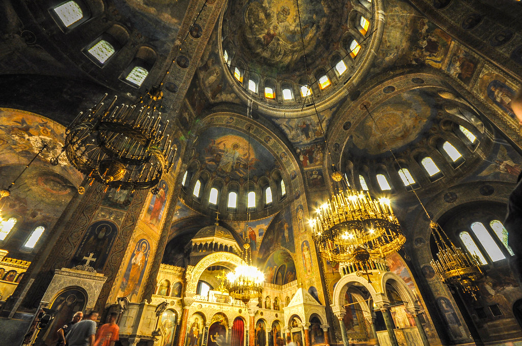 Domes and ceiling frescoes  Alexander Nevsky Cathedral  Flickr