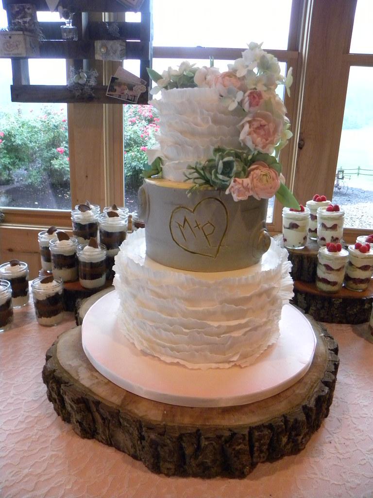 Vintage Birch Tree Wedding Cake  hand made edible ruffles a  Flickr