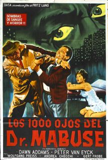 1 000 Eyes Of Dr. Mabuse 1960 Amazing Movie Posters