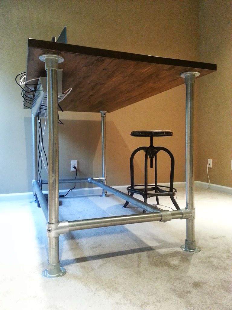 Custom Standing Desk  Custom standing desk made with wood