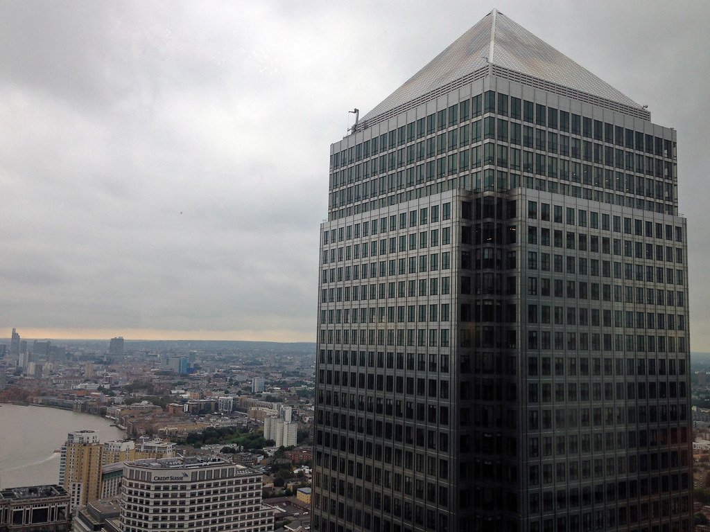 One Canada Square from Citibank  From the 37th floor of
