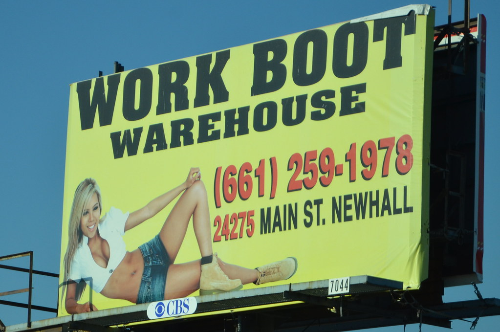 WORK BOOT WAREHOUSE BILLBOARD featuring DJ Sophia Lin as t