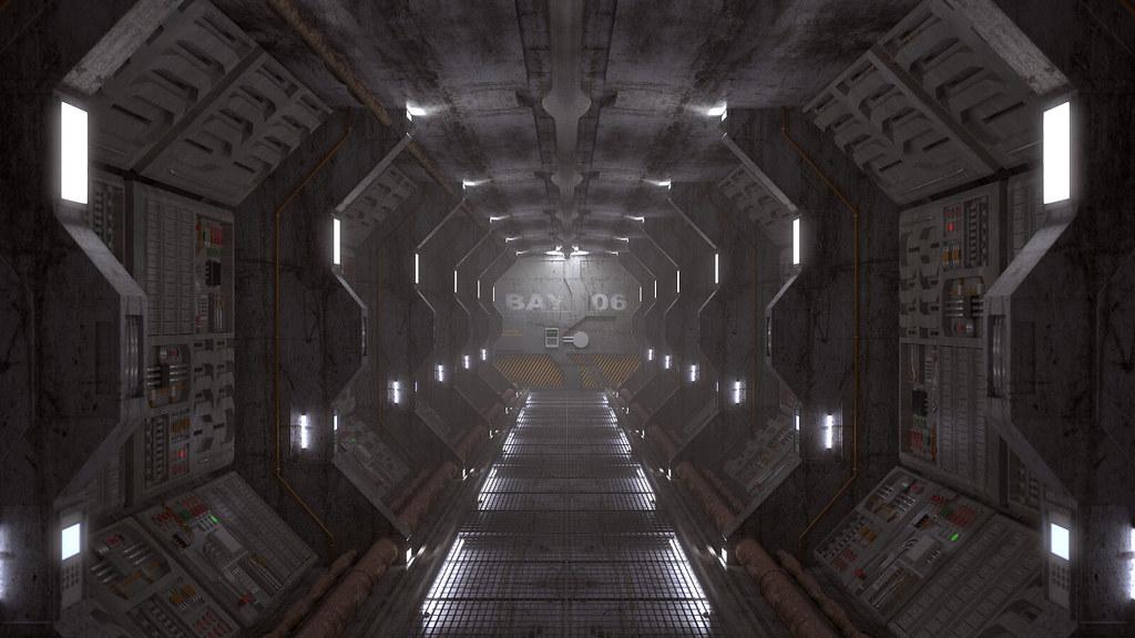 Spaceship Corridor  Spaceship Corridor v1 Rendu quasi