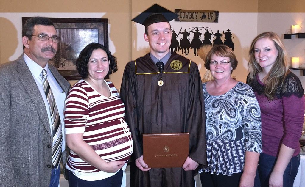 Roland family at Brandon's graduation
