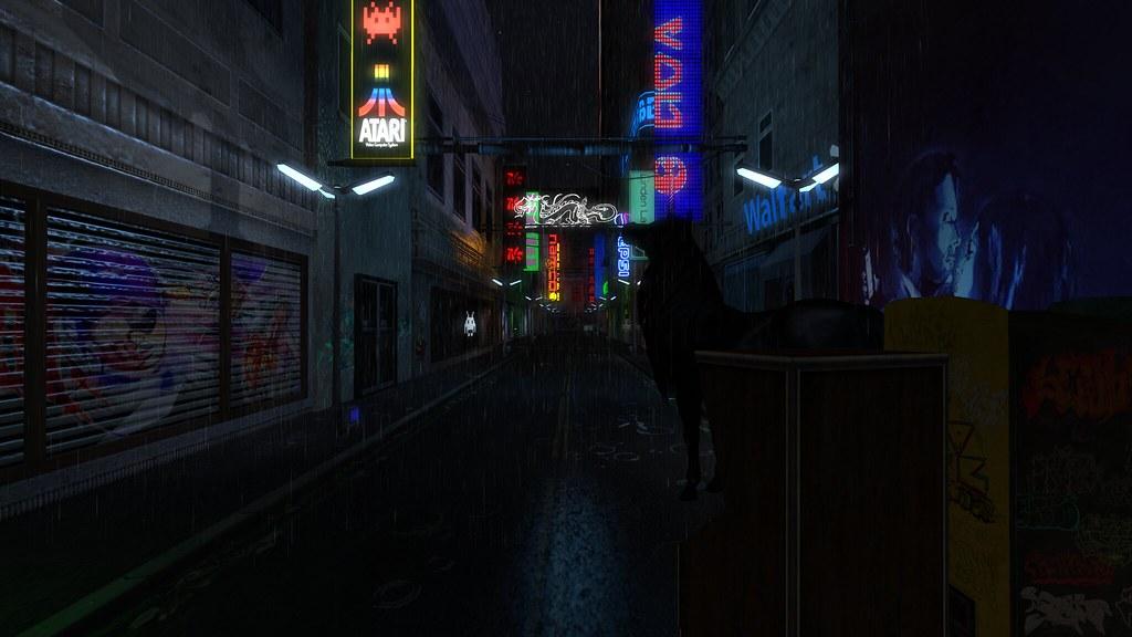 Dance Wallpaper 3d The Vortex Cyberpunk Street Rain Visit This Location