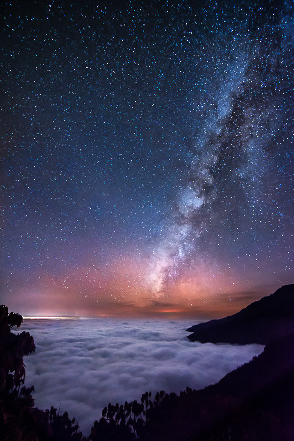 Xperia 3d Wallpaper Milky Way Above The Clouds Ocean I Took This Photo In