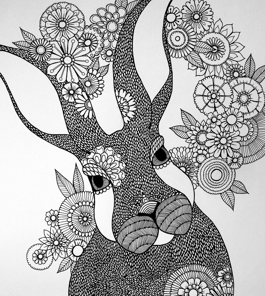 BIGBUNNYBWoutlines Big Bunny Drawn Freehand With