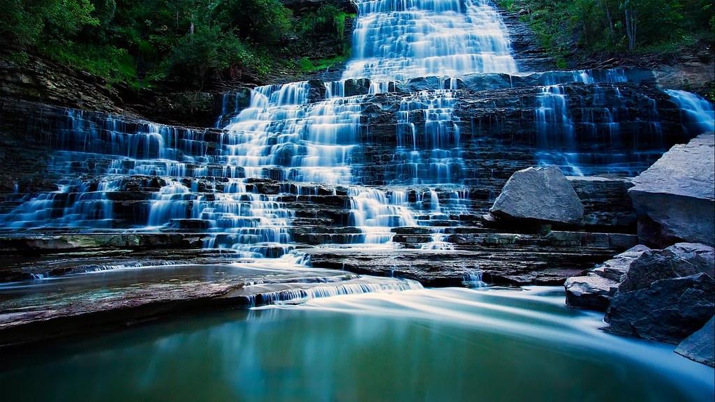 Beautiful 3d Wallpapers For Desktop Ladder Steps Waterfall Most Beautiful Waterfall Wallpape