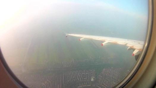 Aterrizando en Schiphol por la tarde